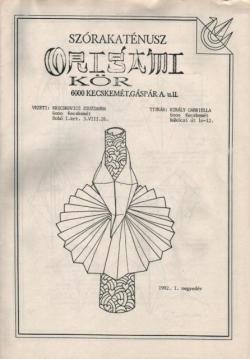 Szórakaténusz Origami Kör 1992/1 magazinja