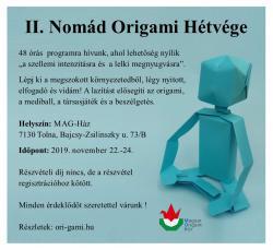 II. Nomád origami hétvége Tolnán