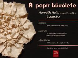 A papír bűvölete - kiállítás