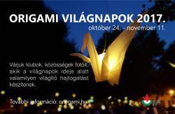 Origami Világnapokhoz kapcsolódó rendezvények 2017-ben