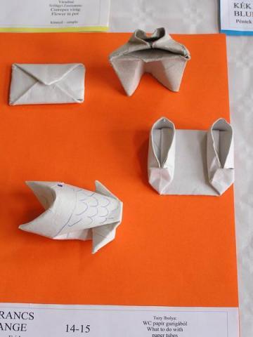 Joan Sallas: WC papír gurigából hajtogatott modellek